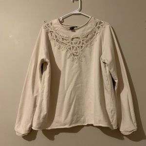 H&M sweater with lace cut out design size L GUC